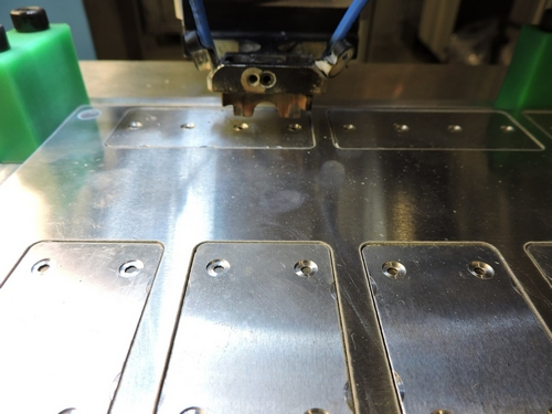 Tests to define the conditions and parameters of laser welding in aluminum parts